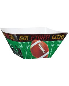 "Amscan Football Party Snacks Disposable 10"" Serving Bowls, Green, 3 CT"
