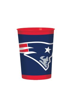 Amscan New England Patriots NFL Hard 16oz Plastic Cup, Blue Red White