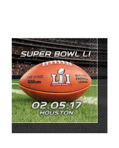Amscan Super Bowl LI 51 NFL Stadium Football 13in Luncheon Napkins, 16 CT