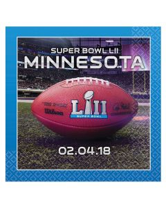 Amscan 2018 Super Bowl LII 52 Football Party 13in Luncheon Napkins, 16 CT