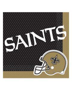 "Amscan New Orleans Saints Square Paper 6.5"" Luncheon Napkins, Black Gold, 16 CT"