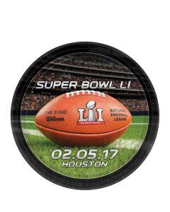 Amscan Super Bowl LI 51 NFL Stadium Football 7 Inch Dessert Plates, 8 CT