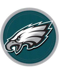 "Philadelphia Eagles Party Supply 9"" Dinner Plates, Green Black White, 8 CT"