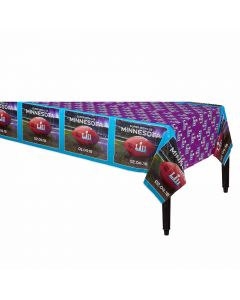 "Amscan 2018 Super Bowl LII 52 NFL Football Party 30"" Plastic Tablecover"