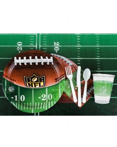 NFL Drive Football Playoffs Superbowl Tableware 57pc Party Pack, Green