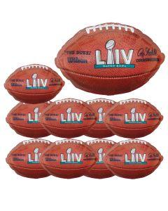 "Pack of 10 Anagram Super Bowl LIV 54 Football Shape 21"" Foil Balloons, Brown"