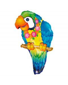 "Betallic Tropical Luau Party Jungle Parrot Giant 29"" Foil Balloon"