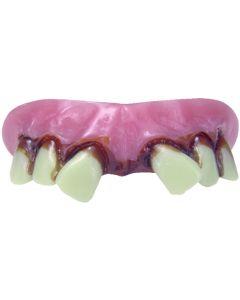 Billy Bob Redneck Aviator False Teeth, Pink White Brown, One Size