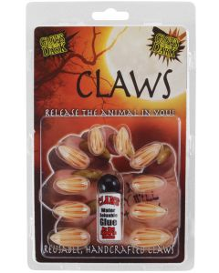 Billy Bob Glow in the Dark Animal 11pc Claws, White Brown, One Size