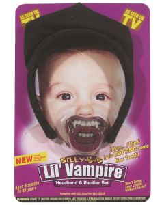 Lil Vampire Teeth Pacifier & Headband 2pc Costume Accessories, Purple, One Size