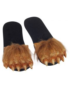 Billy Bob Werewolf Crazy Feet Costume Sandles, Brown Black, Medium