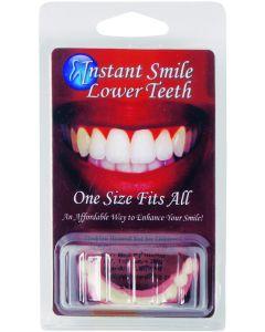 Instant Smile Bottom Veneers False Teeth, White Pink, One Size