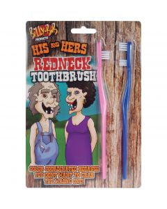 "Billy Bob His and Hers Redneck Toothbrush Hillbilly 4"" Gag Gift, Blue Pink"