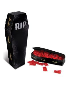 "Halloween RIP Coffin 3-D Standing Cand Stock 13.5"" Table Centerpiece, Black"