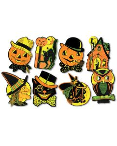 "Beistle Creepy Halloween Character Wall or Window 9"" Cutouts, 4 Pack"