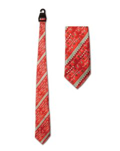 """Beistle Festive Holiday Christmas Lights Full Size Tie, Red Green, One Size 53"""""""