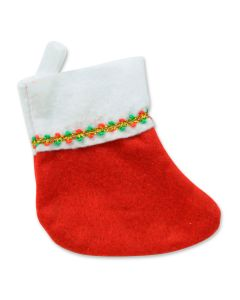 "Beistle Mini Festive Christmas Hanging 6"" Stockings, Red White, 6 Pack"