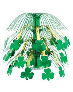 "St Patrick's Day Party Shamrock Decoration 18"" Cascading Centerpiece, Green Gold"