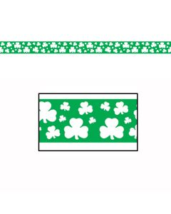 Irish Shamrock Party Tape 20ft Banner Streamer St Patrick's Day Decoration
