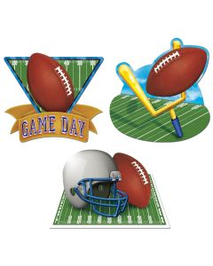 "Game Day Football Helmet Party Decoration Cutouts, Pack of 3, 15""-18"""