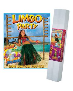 Beistle Tropical Summer Hawaiian Luau Bamboo Party Decoration 6' Game Set