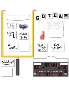 Football Goal Post, Foam Finger, Scoreboard, Blimp 22pc 5' Decoration Pack