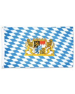 Beistle Bavarian Emblem Flag 3' x 5' Flag, Blue