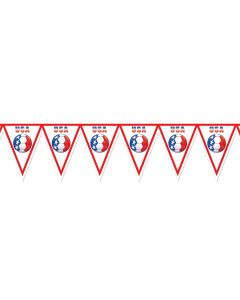 """Beistle FIFA World Cup 2014 Soccer United States 11"""" x 7' 4"""" Pennant Banner"""