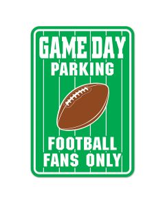 "Super Bowl Party Football Fans Only Guest Parking Signs, 17.5"" x 12"", 6 Pack"