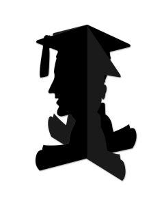 "Beistle 3D Boy Graduate Silhouette 10.75"" Table Centerpiece, Black"