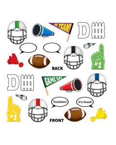 """Beistle Football Party Decoration Photo Fun Signs 12pc 5""""-10.5"""" Cutouts"""