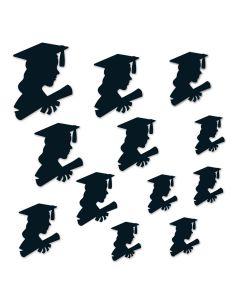 "Beistle Girl Graduation Party Decoration Silhouettes 12pc 6""-12"" Cutouts, Black"
