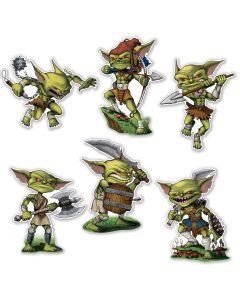 """Beistle Evil Battle Goblins 6pc 12""""-14"""" Cutouts"""