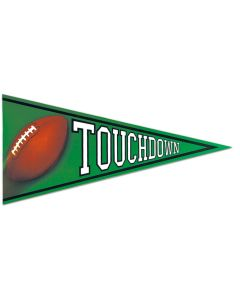 "Beistle 24"" Touchdown Football Double Sided Pennant Cut Out, Green"