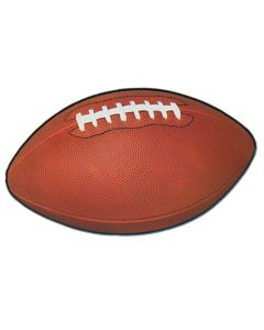 "Realistic Football Shaped Party Decoration 11"" x 18"" Cutouts, Brown White"