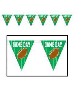 Beistle Beistle Football Game Day Giant Pennant 12' Banner, Green Brown White