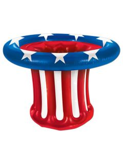 "Beistle Patriotic Hat Cooler 27"" Inflatable Drink Cooler, Red White Blue"