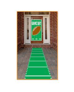"Football Field Runner NFL Super Bowl 10'L X 24""W Decoration Prop, Green White"