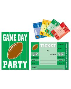 Beistle Game Day Football Night Party Invitations & Envelopes - Pack of 8