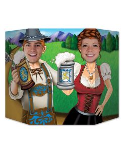 "Beistle Oktoberfest Couple Photo Booth Prop 3' 1"" x 25"" Photo Props, Multicolor"