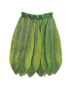 "Beistle Ti Leaf Hula Skirt Luau Party Skirt, Green, One Size 31 - 32"" Waist"