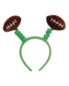 Beistle Fuzzy Football Snap-On Headband Headband Boppers, Green Brown, One-Size