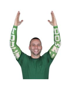 Beistle Football Gameday Touchdown Adult Party Sleeves, Green White, One-Size
