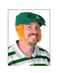 Beistle St Patrick's Day Fun Mutton Chops Pair Sideburns, Orange, One-Size 4""