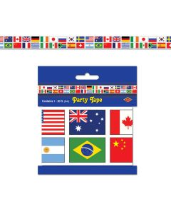 Beistle International Flags 20' Party Tape Decoration - All Weather Poly