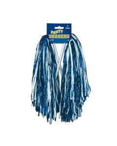 "Beistle Football Cheerleader Party Shaker 2pc Pom Poms, One-Size 12"", Blue White"