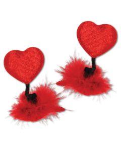 Beistle Valentine's Day Heart Felt 2pc Headpiece, Red Black, One-Size
