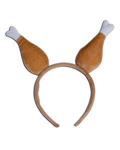 Beistle Turkey Drumstick Party Headband Boppers, Brown White, One-Size