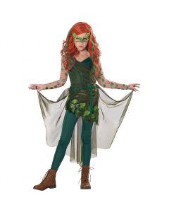 California Costumes Pretty Poison Villian Ivy 4pc Girl Costume, Green, Medium