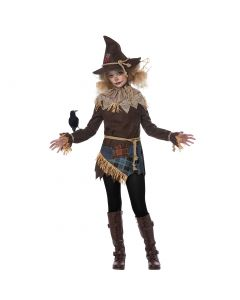 Tween Halloween The Creepy Scarecrow 7pc Tween Costume, Brown